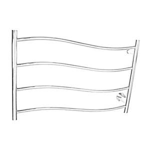 壁掛けタオルウォーマー タオルヒーター タオルハンガー+簡易乾燥 ステンレス鋼 60W