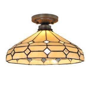 シーリングライト ティファニーライト ステンドグラス照明 玄関照明 D35cm LTFM024
