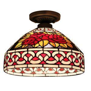 シーリングライト ステンドグラス照明 玄関照明 D30cm LTFM025