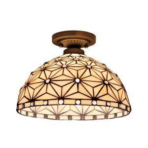 シーリングライト ティファニーライト ステンドグラス照明 玄関照明 幾何 D30cm LTFM027