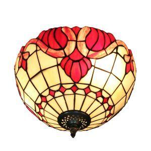 シーリングライト ステンドグラス照明 玄関照明 花柄 D30cm LTFM029