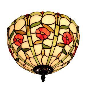 シーリングライト ステンドグラス照明 玄関照明 D30cm LTFM047