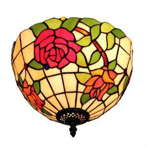 シーリングライト ステンドグラス照明 玄関照明 バラ D30cm LTFM049