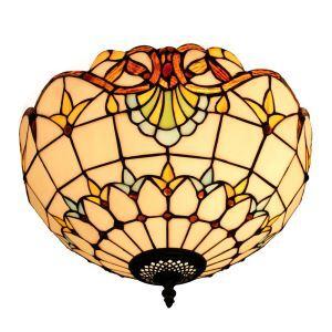 シーリングライト ステンドグラス照明 玄関照明 D30cm LTFM051