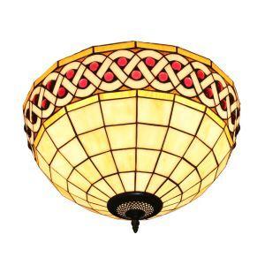 シーリングライト ステンドグラス照明 玄関照明 D30cm LTFM053