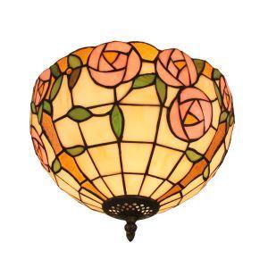 シーリングライト ステンドグラス照明 玄関照明 バラ D30cm LTFM060