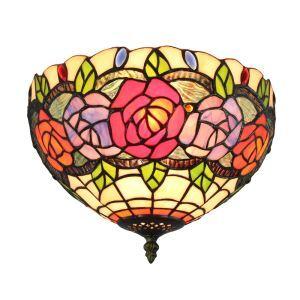 シーリングライト ステンドグラス照明 玄関照明 D30cm LTFM063