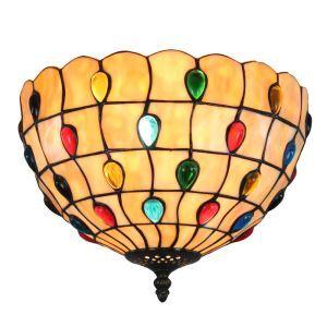 シーリングライト ステンドグラス照明 玄関照明 D30cm LTFM064