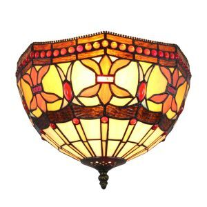 シーリングライト ステンドグラス照明 玄関照明 D30cm LTFM065
