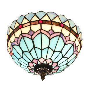 シーリングライト ティファニーライト ステンドグラス照明 玄関照明 D30cm LTFM072