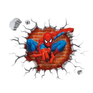 3Dウォールステッカー 立体DIY 転写式ステッカー PVCシール シート 剥がせる スパイダーマン/Spiderman ZYVA1454