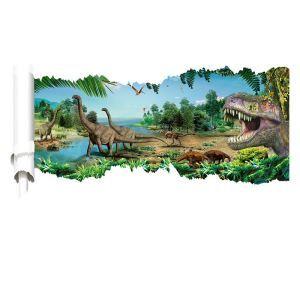 3Dウォールステッカー 立体DIY 転写式ステッカー PVCシール シート 剥がせる Jurassic Park dinosaur world ZYVA1458