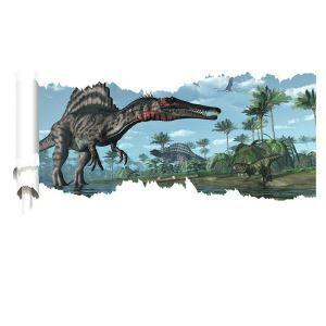 3Dウォールステッカー 立体DIY 転写式ステッカー PVCシール シート 剥がせる Jurassic Park dinosaur world ZYVA1459