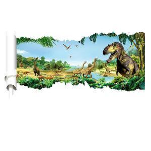 3Dウォールステッカー 立体DIY 転写式ステッカー PVCシール シート 剥がせる Jurassic Park dinosaur world ZYVA1460