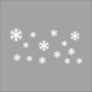 ウォールステッカー 転写式ステッカー PVCシール シート 剥がせる 雪花 ZYVA8343