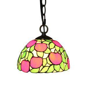 ペンダントライト ステンドグラスランプ ティファニーライト 照明器具 玄関照明 リンゴ A/B D20cm LTPL223