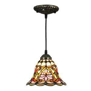 ペンダントライト ステンドグラスランプ ティファニーライト 照明器具 玄関照明 D20cm LTPL234