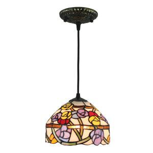 ペンダントライト ステンドグラスランプ ティファニーライト 照明器具 玄関照明 D20cm LTPL249