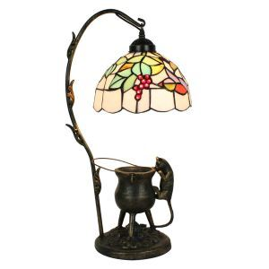 テーブルランプ ティファニーライト スタンドライト ステンドグラスランプ 卓上照明 ブドウ 1灯 D20cm LTTL221