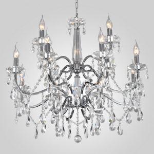 シャンデリア クリスタル リビング照明 店舗照明 天井照明 オシャレ 豪華 12灯 LED電球対応