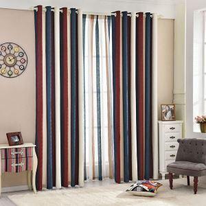 遮光カーテン オーダーカーテン シェニール織物 縞柄 寝室 リビング 2色 1級遮光カーテン(1枚)