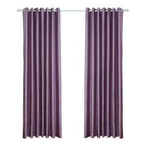 遮光カーテン オーダーカーテン 寝室 リビング 紫色 葉柄 豪華 北欧風(1枚)