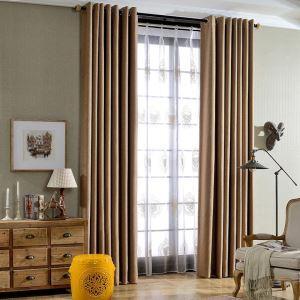 遮光カーテン オーダーカーテン 寝室 リビング 無地柄 純色 現代風 3色(1枚)