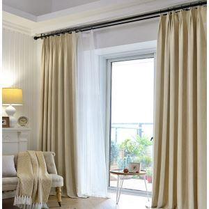 遮光カーテン オーダーカーテン 寝室 リビング 無地柄 現代風 3色(1枚)