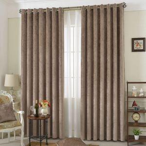 遮光カーテン 寝室カーテン シェニール ブラックシルク付 5色 現代風 1級遮光カーテン(1枚)