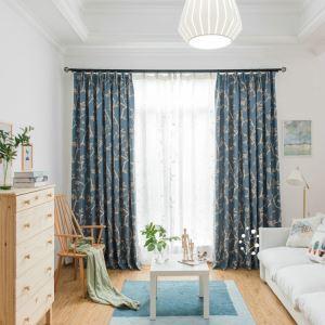 遮光カーテン 寝室カーテン 木柄 田舎風 1級遮光カーテン(1枚)