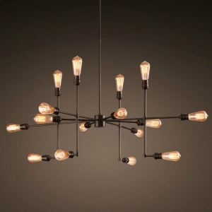 ペンダントライト パイプライト 工業照明 天井照明 照明器具 ビンテージ 16灯 LTB188164