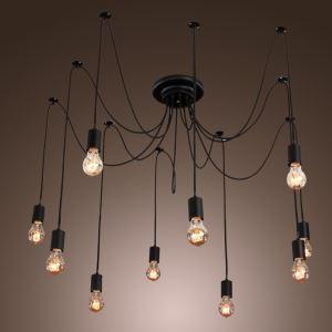 ペンタントライト 天井照明 照明器具 リビング照明 工業Loft スパイダー型 花火照明 10灯