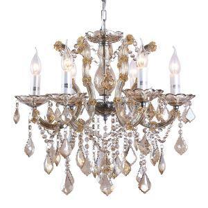 シャンデリア 照明器具 寝室照明 リビング照明 天井照明 クリスタル 豪華 オシャレレ 6灯 LED電球対応