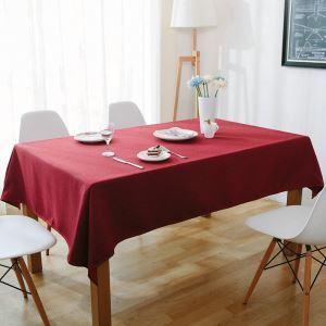 テーブルクロス テーブルカバー 撥水加工 無地柄 150*260cm 8人掛け用 TC018