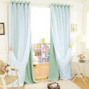 遮光カーテン カーテンレースセット シアーカーテン付 寝室 無地柄 現代風 5色 1級遮光カーテン(1枚)