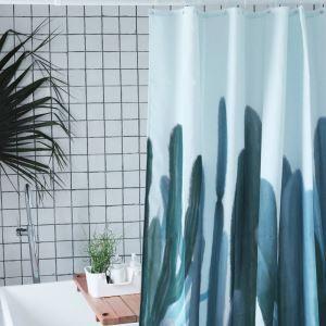 シャワーカーテン バスカーテン 防水防カビ 浴室 ダクロンカーテン サボテン柄 DP019