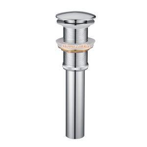 横穴無し排水金具 排水ドレイン マッシュルーム・プッシュ式 ドレンユニット32mm クロム LK001