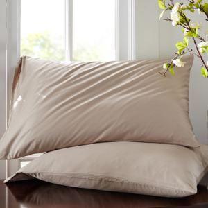 枕カバー ピロケース 封筒式カバー 寝具 コットンサテン 48*74cm 2点入り B2010