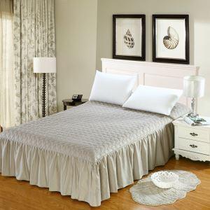 ベッドスカート シーツ 寝具カバー シンプル 灰色 キルティング 180*200cm B5002