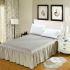ベッドスカート シーツ 寝具カバー シンプル 灰色 キルティング 150*200cm B5006