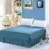 ベッドスカート シーツ 寝具カバー シンプル 綿 青碧色 150*200cm B6002