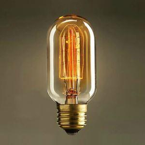 レトロなエジソン電球 ハロゲン電球 口金E26 T45 40W