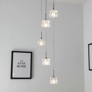 LEDペンダントライト 照明器具 リビング照明 店舗照明 吹き抜け照明 クリスタル オシャレ 5灯 LED対応