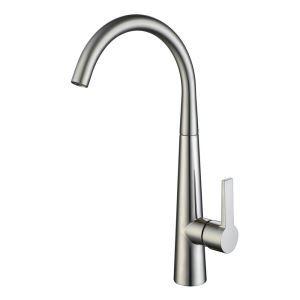 キッチン蛇口 台所蛇口 冷熱混合水栓 シンク用水栓 ヘアライン HY462
