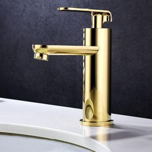 洗面蛇口 バス水栓 水道蛇口 冷熱混合水栓 Ti-PVD HYS464