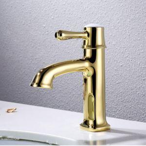 洗面蛇口 バス水栓 水道蛇口 冷熱混合水栓 Ti-PVD HYS468