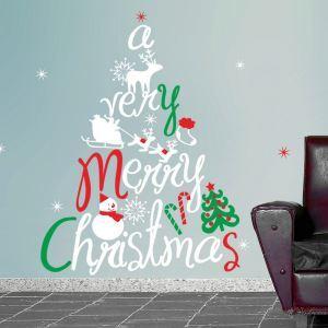 ウォールステッカー 転写式ステッカー PVCシール シート 剥がせる 平面DIY クリスマスシリーズ WS06701