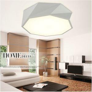 LEDシーリングライト 照明器具 天井照明 リビング 寝室 店舗 オシャレ 幾何形 黒白 LED対応