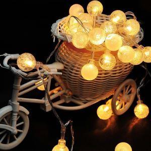 LEDイルミネーションライト LEDストリングライト 球型照明 防水 40灯 パーティー 祝日飾り