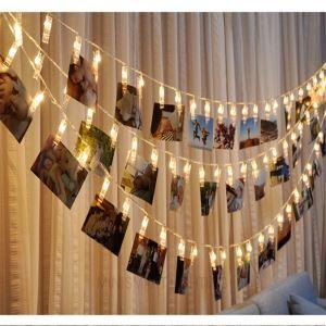 LEDイルミネーションライト LEDストリングライト クリップ型照明 防水 10灯 パーティー 結婚式